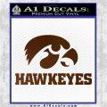 Iowa Hawkeyes DH Decal Sticker Brown Vinyl 120x120
