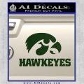 Iowa Hawkeyes DH Decal Sticker Dark Green Vinyl 120x120
