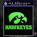 Iowa Hawkeyes DH Decal Sticker Lime Green Vinyl 120x120