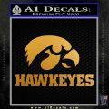 Iowa Hawkeyes DH Decal Sticker Metallic Gold Vinyl 120x120