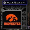 Iowa Hawkeyes DH Decal Sticker Orange Vinyl Emblem 120x120