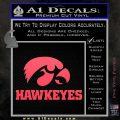 Iowa Hawkeyes DH Decal Sticker Pink Vinyl Emblem 120x120