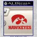 Iowa Hawkeyes DH Decal Sticker Red Vinyl 120x120