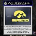 Iowa Hawkeyes DH Decal Sticker Yellow Vinyl 120x120