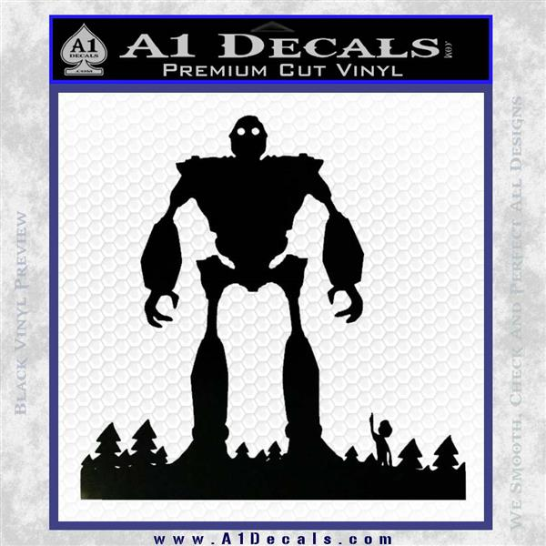Iron Giant Decal Sticker Black Vinyl Logo Emblem