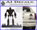Iron Giant Decal Sticker Carbon Fiber Black 120x97