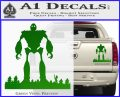 Iron Giant Decal Sticker Green Vinyl 120x97