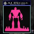 Iron Giant Decal Sticker Hot Pink Vinyl 120x120