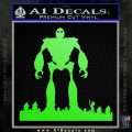 Iron Giant Decal Sticker Lime Green Vinyl 120x120