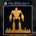 Iron Giant Decal Sticker Metallic Gold Vinyl 120x120