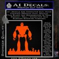 Iron Giant Decal Sticker Orange Vinyl Emblem 120x120
