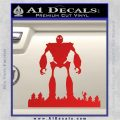 Iron Giant Decal Sticker Red Vinyl 120x120