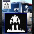 Iron Giant Decal Sticker White Vinyl Emblem 120x120