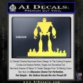 Iron Giant Decal Sticker Yellow Vinyl 120x120