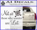 JRR Tolkien Not All Those Who Wander Are Lost Decal Sticker Carbon Fiber Black 120x97