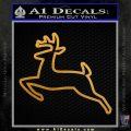 John Deere Outline Decal Sticker Metallic Gold Vinyl 120x120