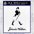 Johnnie Walker Decal Sticker Black Vinyl Logo Emblem 120x120