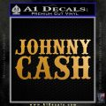 Johnny Cash Decal Sticker D2 Metallic Gold Vinyl 120x120