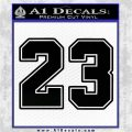 Jordan 23 Number Jumpman Decal Sticker Black Vinyl Logo Emblem 120x120
