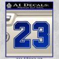 Jordan 23 Number Jumpman Decal Sticker Blue Vinyl 120x120