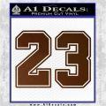 Jordan 23 Number Jumpman Decal Sticker Brown Vinyl 120x120