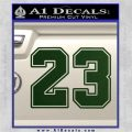 Jordan 23 Number Jumpman Decal Sticker Dark Green Vinyl 120x120