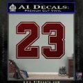 Jordan 23 Number Jumpman Decal Sticker Dark Red Vinyl 120x120