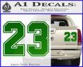 Jordan 23 Number Jumpman Decal Sticker Green Vinyl 120x97