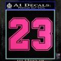 Jordan 23 Number Jumpman Decal Sticker Hot Pink Vinyl 120x120