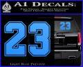 Jordan 23 Number Jumpman Decal Sticker Light Blue Vinyl 120x97