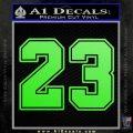 Jordan 23 Number Jumpman Decal Sticker Lime Green Vinyl 120x120