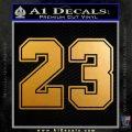 Jordan 23 Number Jumpman Decal Sticker Metallic Gold Vinyl 120x120
