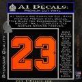 Jordan 23 Number Jumpman Decal Sticker Orange Vinyl Emblem 120x120