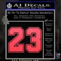 Jordan 23 Number Jumpman Decal Sticker Pink Vinyl Emblem 120x120
