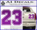Jordan 23 Number Jumpman Decal Sticker Purple Vinyl 120x97