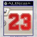 Jordan 23 Number Jumpman Decal Sticker Red Vinyl 120x120