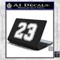 Jordan 23 Number Jumpman Decal Sticker White Vinyl Laptop 120x120