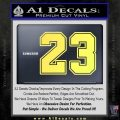 Jordan 23 Number Jumpman Decal Sticker Yellow Vinyl 120x120
