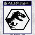 Jurassic Park Hexagon Logo Decal Sticker Black Vinyl Logo Emblem 120x120