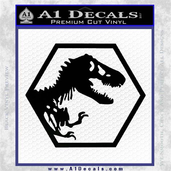 Jurassic Park Hexagon Logo Decal Sticker Black Vinyl Logo Emblem