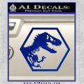 Jurassic Park Hexagon Logo Decal Sticker Blue Vinyl 120x120