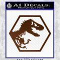 Jurassic Park Hexagon Logo Decal Sticker Brown Vinyl 120x120