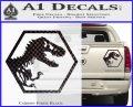 Jurassic Park Hexagon Logo Decal Sticker Carbon Fiber Black 120x97