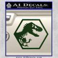 Jurassic Park Hexagon Logo Decal Sticker Dark Green Vinyl 120x120