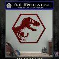 Jurassic Park Hexagon Logo Decal Sticker Dark Red Vinyl 120x120