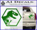 Jurassic Park Hexagon Logo Decal Sticker Green Vinyl 120x97