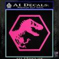 Jurassic Park Hexagon Logo Decal Sticker Hot Pink Vinyl 120x120