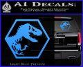 Jurassic Park Hexagon Logo Decal Sticker Light Blue Vinyl 120x97