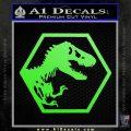 Jurassic Park Hexagon Logo Decal Sticker Lime Green Vinyl 120x120