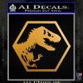 Jurassic Park Hexagon Logo Decal Sticker Metallic Gold Vinyl 120x120